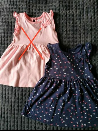 Granatowa sukienka 80 9-12m young dimension