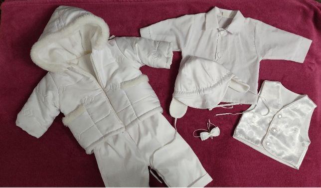 Ubranko na chrzest, komplet na chrzciny, kurtka + spodnie, rozm. 62