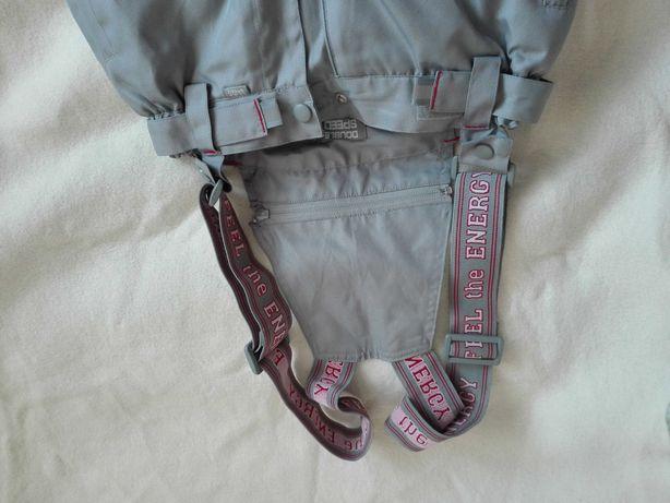 Spodnie narciarskie Air Guys, ciepłe, grafit, unisex, 140 cm, stan b.d