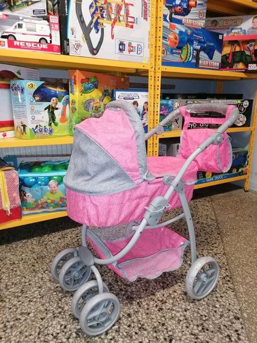 Wózek Dla Lalek 2w1 Różowy Nowy Wzór Promocja! Odbiór Wysyłka Chrzanów - image 1
