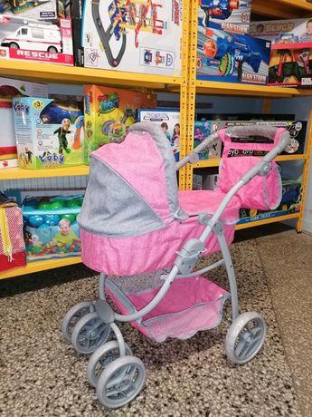 Wózek Dla Lalek 2w1 Różowy Nowy Wzór Promocja! Odbiór Wysyłka