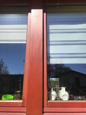 Okna drewniane dwuszybowe po demontażu z ościeżnicami