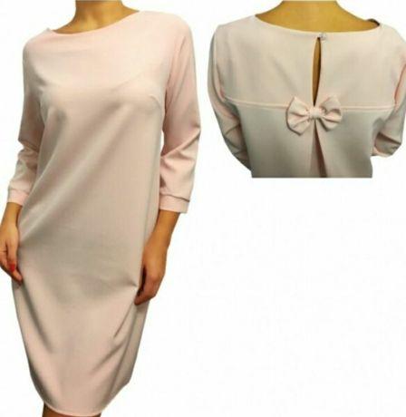 Pudrowy sukienka r. XL ModnaKiecka