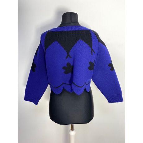 Полувер Christian Dior синий шерсть