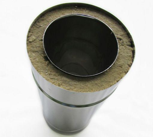 Tubo inox duplo com isolamento