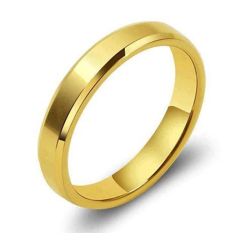 Alianças Banhado a ouro de Aço Inoxidáv