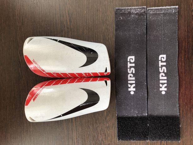 Щитки Nike mercurial lite + тейпы kipsta