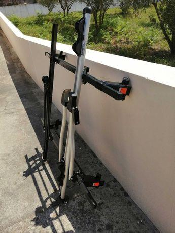 Barras tejadilho com suporte para 2 bicicletas