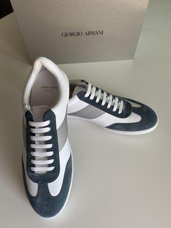 Кожаные кеды, кросовки Giorgio Armani, Армани, оригинал!Gucci