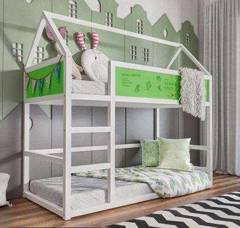 Nowość piętrowe łóżko 2 osobowe Domek! Materace w zestawie !