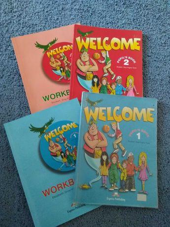 Учебники и тетради по английскому языку WELCOME 1 и WELCOME 2