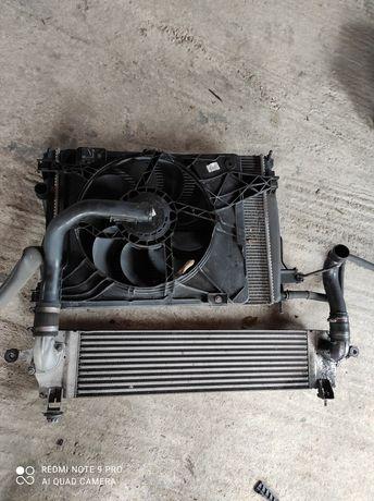 Nissan Qashqai J10 1.5DCi komplet chlodnice+wentilator
