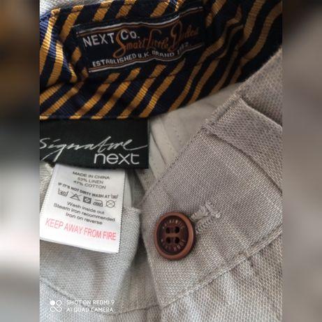 Nowe eleganckie spodnie Next chrzest 86