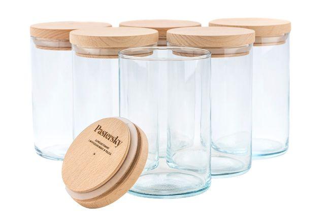 Nowy zestaw pojemników szklanych na żywność kawę herbatę makaron