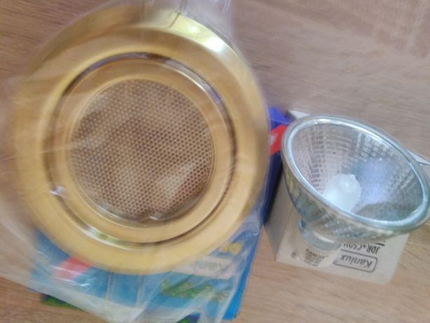 Oczka sufitowe z żarówką 50W 230V