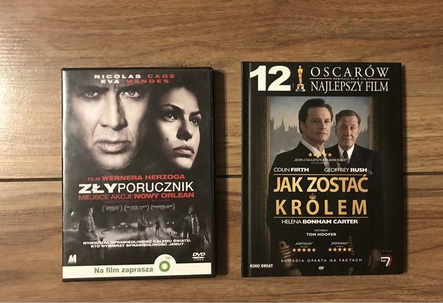 "Film DVD ""Jak zostać królem"" i ""Zły porucznik"""
