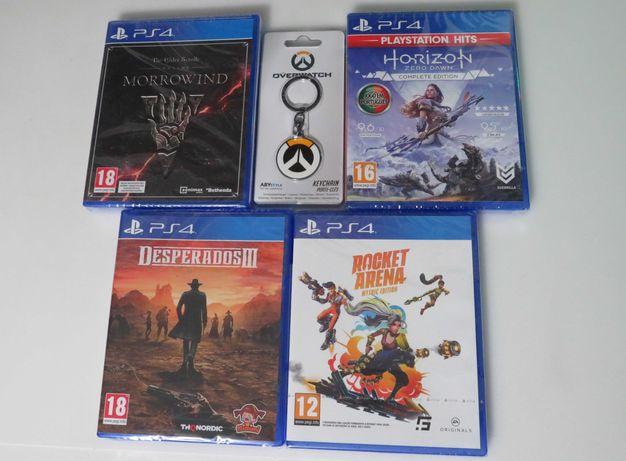 Pack 4 Jogos para PS4 +oferta porta-chaves em metal NOVOs e SELADOs