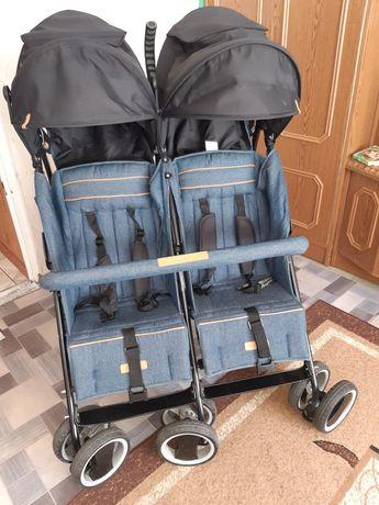 Wózek spacerowy bliźniaczy,  rok po roku Easy Go Comfort Duo UV