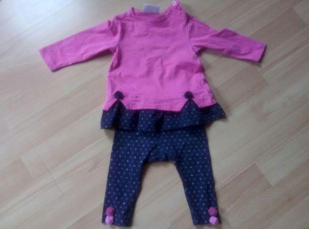 Zestaw body bluzka spodnie bluza coccodrillo 62 dziewczynka 4 sztuki