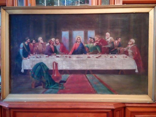 Krzyżak M. Stary obraz przedwojenny. 120x70 cm.