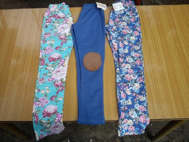 Ubrania, legginsy, spodnie dresowe, getry, bawełna . 140