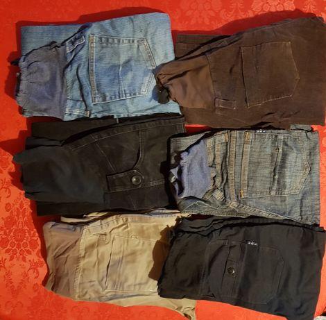 Spodnie ciążowe jeans,materiałowe, sztruks rozm.S,M