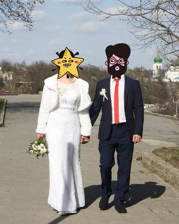 Платье свадебное р.44-46