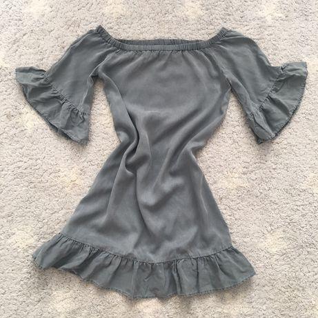 H&M L.O.G.G. sukienka hiszpanka khaki oliwka S