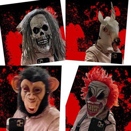 Маски (геловін ) Halloween маска клоуна клоун единорог