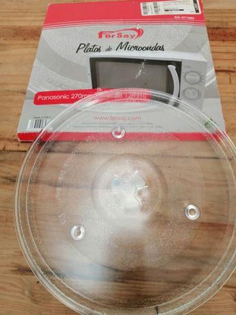 Prato de Microondas Panasonic de 27cm novo em caixa Mod. RM-GT1052