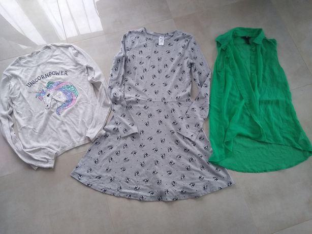 Zestaw ubrań dla dziewczynki na 170