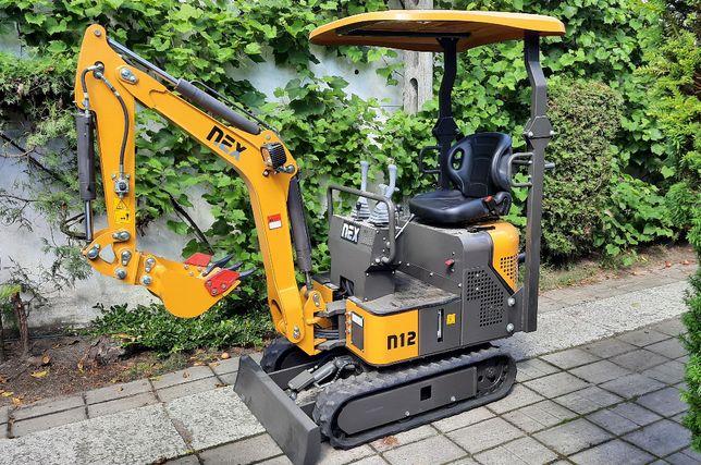 Usługi minikoparką roboty ziemne wiertnica niwelacja terenu łyżka 20cm