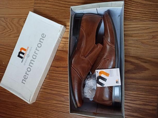 Nowe buty męskie skórzane r.45