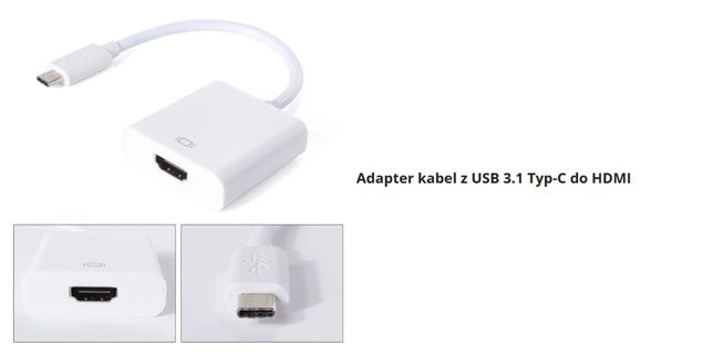 Adapter USB 3.1 typ C do HDMI konwerter MacBook