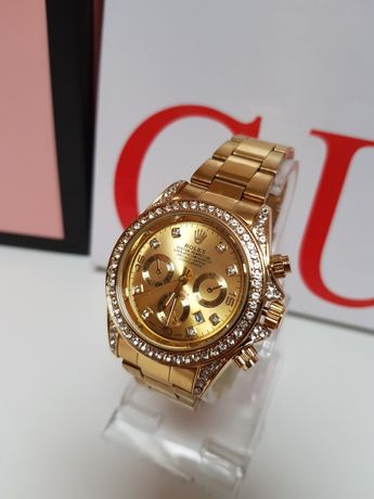 Zegarek Rolex Daytona Nowy cały złoty  kolor  diamenty damski męski