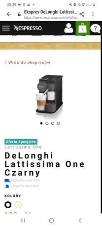 Nowy ekspres nespresso de longhi latissima one