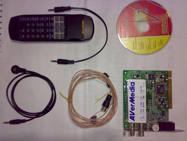 ТВ-радио тюнер AVerMedia AverTV Studio 203 M168-U TV FM tuner PCI