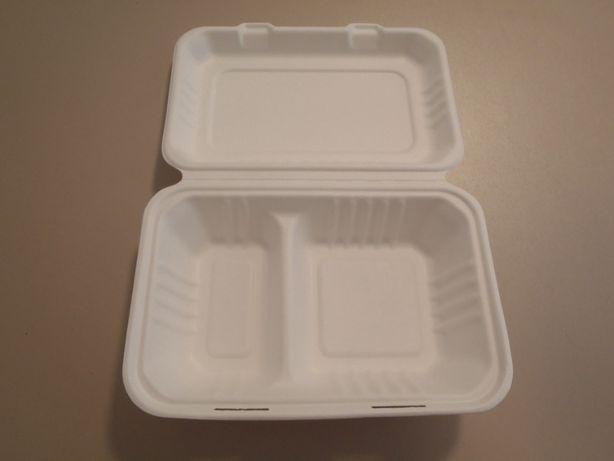 Pojemnik obiadowy 2 komory opakowanie na wynos EKO 125szt