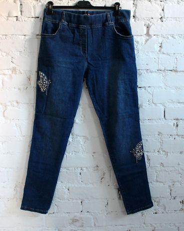 Rewelacyjne jeansy treginsy 4,5,6 XL duże od 48 do 52 MOTYLE dwa kol
