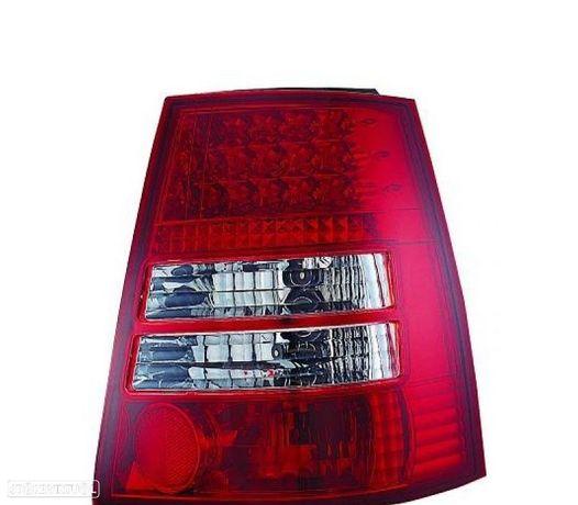 FAROLINS TRASEIROS LED VW GOLF 4 IV VARIANT 97-03 VERMELHO BRANCO