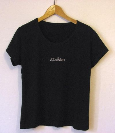 T-shirt czarne damskie