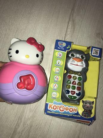 Обучающая музыкальная игрушка Котофон и неваляшка hello kitty sanrio
