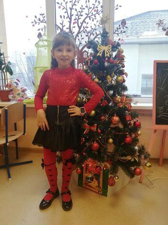 Детская юбка из эко кожи