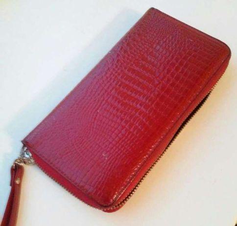 Шкіряний гаманець / кожаный кошелек (розійшовся замок)
