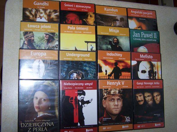 Kolekcja filmów na DVD - 30 sztuk