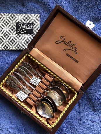 Jubiler łyżeczki szkatułka kuferek łyżki