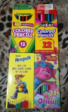 Цветные карандаши 12 цветов Crayola CrazArt 1 вересня Тролли Несквик
