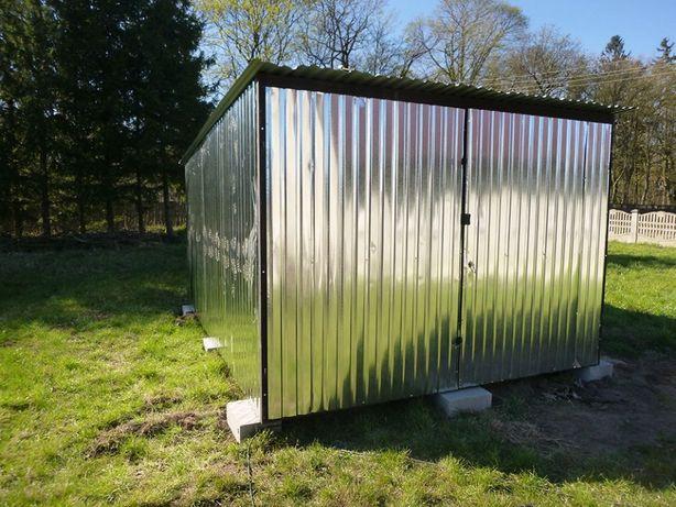 Garaż blaszany na budowę 3x5 ocynk Blaszak WZMOCNIONY Garaże PRODUCENT