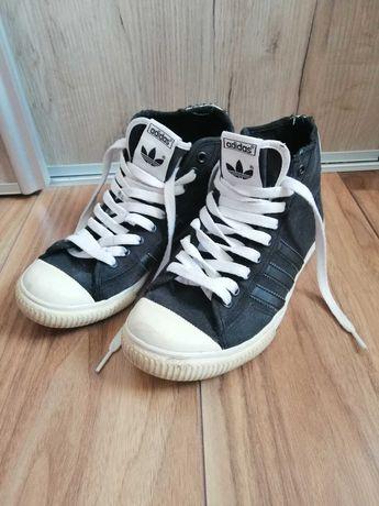 Trampki tenisówki adidas czarne za kostkę vintage 38 2/3