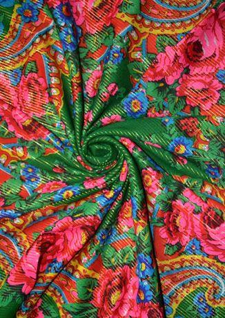 Шерстяной платок / хустинка с люрексом